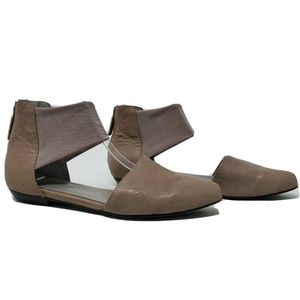 Eileen Fisher Quartz Allot Leather Pointed Flats
